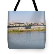 Panorama Of A Pond Tote Bag