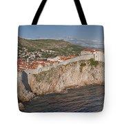 Panorama Of Dubrovnik, Croatia, In The Afternoon Tote Bag