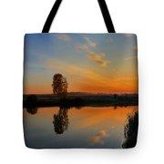 Panorama Of Sunset Tote Bag