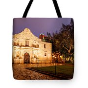 Panorama Of The Alamo In San Antonio At Dawn - San Antonio Texas Tote Bag