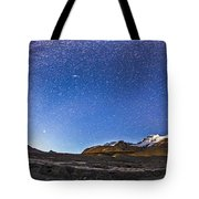 Panorama Of The Columbia Icefields Tote Bag