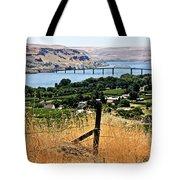 Panoramic Columbia River  Tote Bag