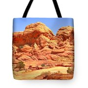 Panoramic Coyote Buttes Landscape Tote Bag