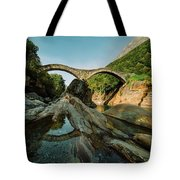 Panoramic Double Arch Stone Bridge At Lavertezzo by Marcell Faber