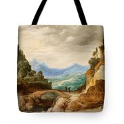 Panoramic Landscape With Travellers Tote Bag