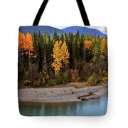 Panoramic Northern River Tote Bag