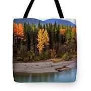 Panoramic Northern River Tote Bag