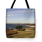 Panoramic Of Woods Hole  Tote Bag