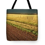 Panoramic Prairie Storm Canada At Sunset Tote Bag