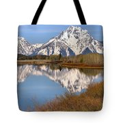 Panoramic Reflections At Oxbow Tote Bag
