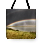 Panoramic Storm In The Marshes Tote Bag