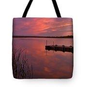 Panoramic Sunset Northern Lake Tote Bag