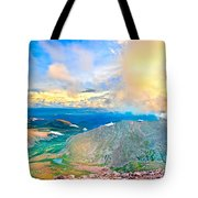 Panoramic Sunset On Mount Evans Tote Bag