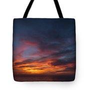 Panoramic Sunset Overtorrey Pines, San Diego Beach, California Tote Bag