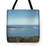 Panoramic View Across Calvi Bay And Revellata In Corsica Tote Bag