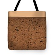 Panoramic View Of Bonneville Crater Tote Bag by Stocktrek Images