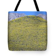 Panoramic View Of Desert Gold Yellow Tote Bag