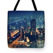 Panoramic View Of Dubai City Tote Bag