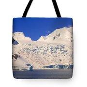 Panoramic View Of Glaciers And Iceberg Tote Bag