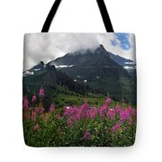 Panoramic View Of 'going To Sun Road' Tote Bag