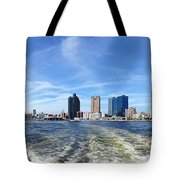 Panoramic View Of Kaohsiung City Waterfront Tote Bag