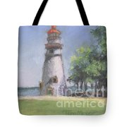 Panoramic View Of Marblehead Lighthouse Tote Bag