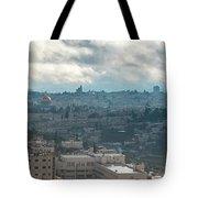 Panoramic View Of Old Jerusalem City Tote Bag