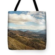 Panoramic View Of Olmi Cappella Valley With In Corsica Tote Bag