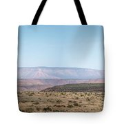 Panoramic View Of Open Desert Field In Nevada With Grand Canyon  Tote Bag