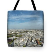 Panoramic View Of Paris From The Top Of The Tower Tote Bag
