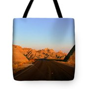 Panoramic View Of Road Going Tote Bag
