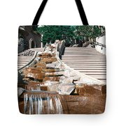 Panoramic View Of Stairs And Waterfall Tote Bag