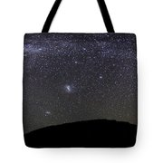 Panoramic View Of The Milky Way Tote Bag