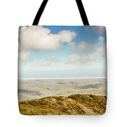 Panoramic Views From Mount Zeehan To Trial Harbour Tote Bag