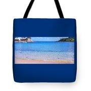 Panoramic Vision Of Devonshire  Bay, Bermuda Tote Bag