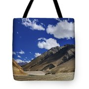 Panrama Of Mountains Ladakh Jammu And Kashmir India Tote Bag