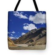 Panrama Of Mountains Ladakh Jammu And Kashmir India Tote Bag