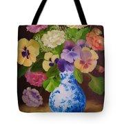Pansies And Ranunculus Tote Bag