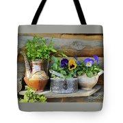 Pansies In Pots Tote Bag
