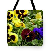Pansies Of A Different Color Tote Bag