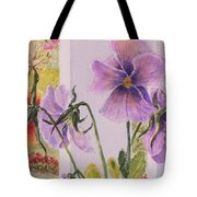 Pansies On My Porch Tote Bag