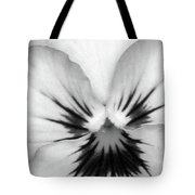 Pansy 01 Bw - Thoughts Of You Tote Bag