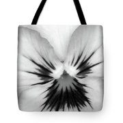 Pansy 02 Bw - Thoughts Of You Tote Bag