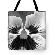 Pansy 06 Bw - Thoughts Of You Tote Bag