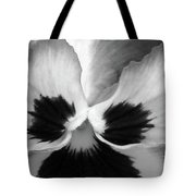 Pansy 10 Bw - Thoughts Of You Tote Bag