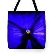 Pansy Abstract Grunge Tote Bag