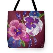 Pansy Grandeur Tote Bag