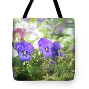 Pansy Impressions Tote Bag