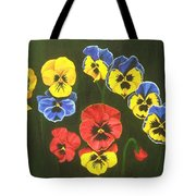 Pansy Lions Too Tote Bag