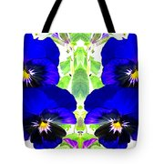 Pansy Pattern Tote Bag